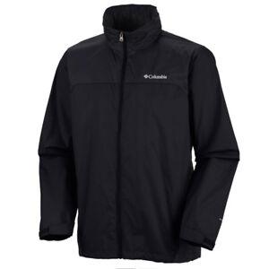 "New Mens Columbia ""Glennaker Lake"" Omni-Shield Packable Rain Wind Jacket"