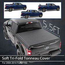 FOR 09-14 FORD F150 FLEETSIDE 5.5FT TRUCK BED SOFT Tri-Fold Rear TONNEAU COVER