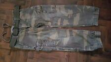 ABERCROMBIE & FITCH Mens Cotton Khaki Combat Trousers Size Medium 34 Inch Waist