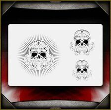 """Sugar Skulls 2"" Airbrush Stencil Template Airsick"
