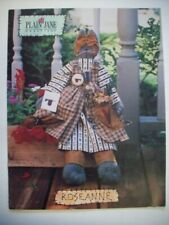 "Primitive 22"" Roseann rag doll dressed cat and pillow pattern"