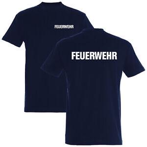 FEUERWEHR T-Shirt 180g/m² Druck beidseitg - 7 versch. Druckfarben - S1