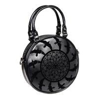 Banned Apparel Dreamcatcher Gothic Punk Alternative Black Round Handbag