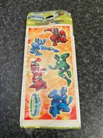 VINTAGE 2001 POWER RANGERS STICKERS MADE IN USA NEW SEALED