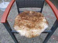 Sitzkissen Sitzunterlage Lammfell/Schaffell geflammt Rund Ø ca. 50 cm Natur