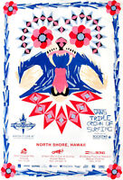 Mint Official 2008 Triple Crown of Surfing Hawaii 2 sided Surf Contest Poster