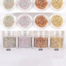 10ml/box Caramel Cream Caviar Beads 3D Glitter Manicure Nail Art Decoration Tips