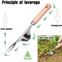 Stainless Steel Garden Weeder Hand Weeding Removal Cutter Puller Tools