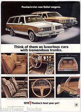 1978 Pontiac advertisement page, PONTIAC SAFARI wagons Bonneville & Grand Lemans
