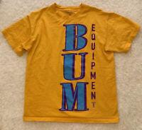 BUM B.U.M. Equipment Vintage Yellow Shirt Mens Size Medium