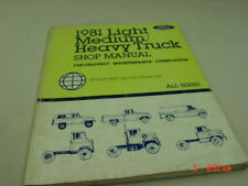 Vintage Ford 1981 Truck Shop Manual Pre-Delivery Maintenance All Model Service