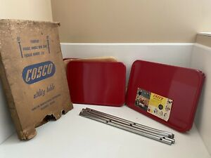 NWB Vintage Cosco 3-Tier Red Kitchen Utility Cart Never Assembled Please Read