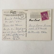 Early Day Oklahoma Townsend and Pickett Ranch Iowa Reservation Posted Postcard