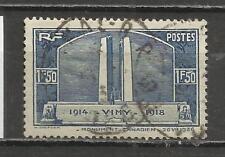 5770-SELLO FRANCIA 1936  Nº317,VALOR YVERT 10,0€,USADO.MONUMETO 1ª GUERRA MUNDIA