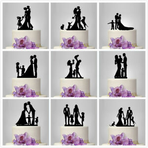 Bride and Groom With Child Family Wedding Cake Topper Cake Decoration Acrylic