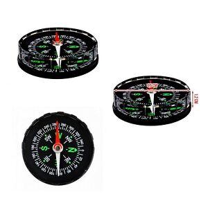 4x Tragbarer Taschenkompass Navigation Wandern Kompass Marschkompass