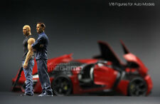 1/18 FF Fast & Furious Resin Figures Dom & Brian 2 pcs for Auto Models