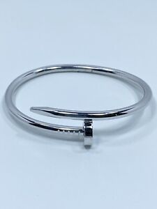 Cartier Juste un Clou Bracelet Nail Bangle 18K White Gold 3.5mm Size:16