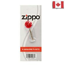 Authentic ZIPPO FLINT Card -6 genuine flints dispenser for wick lighter PIERRES