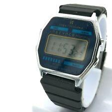 Elektronika Integral 53 Blue Dial Digital Watch Calendar Vintage Men's Original