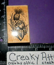 THISTLE FLOWER PLANT RUBBER STAMPS HERITAGE SCOTLAND