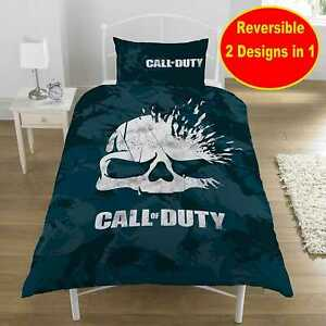Call Of Duty Duvet Cover Bedding Set Single Size Ideal Gamers Gift