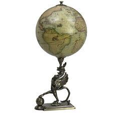 "Griffon Stand Mercator 1541 Old World Globe 15.5"" Mythology Tabletop Decor"