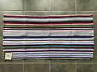 "Vintage Reversible Throw Rug Woven Striped Rag NOS 24x45"" Lot A"