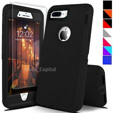 For iPhone 6 7 8 Plus SE 2nd Protective Shockproof Cover Case + Screen Protector