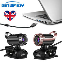 A1 Webcam USB 2.0 480PCamera Web Cam 360 Degree MIC Clip-on for PC Laptop HY1 UK