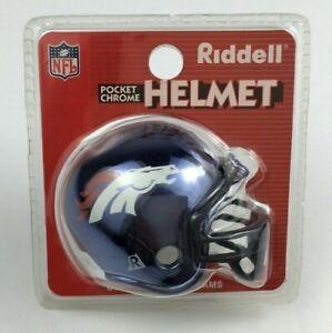Riddell Pocket Chrome Helmet, Denver Broncos New Package