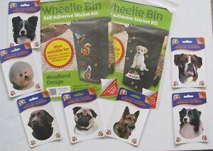 Window-Wheelie Bin Stickers-Dogs-Cats-Wildlife-Collie-Boxer-Labrador-Westie-Pug