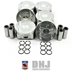 DNJ P268 Pistons Set for 2008-2011 Honda 3.5L V6 J35A7 J35Z