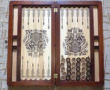 Professional big wooden Backgammon set game board with chips Ash wood New nice