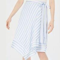 Revolve lucy paris blue striped asymmetrical skirt, Size Xs,$79