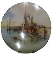 """Antique English Plate. Mint Condition. New. Royal Doulton. """"Home Waters""""."""