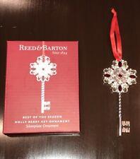 NIB Reed & Barton Holly Berry Key Christmas Ornament ~ Silverplate ~ NEW!