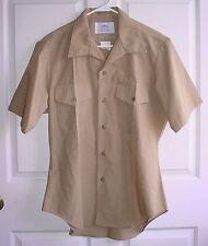 USMC US Marine Corps Khaki Tan Tropical Uniform Service A & C Shirt Size 16