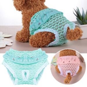 3Pcs/Set Washable Dog Diaper Female Pet Pant Puppy Doggie Belly Diapers Reusable
