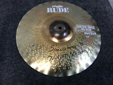 """Paiste Rude Soundedge Bottom 14"""" Cymbal Used with Slayer and Anthrax Signed"""