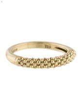 Lagos Cavier Beaded 18K Gold Ring  Size 8 orig $875
