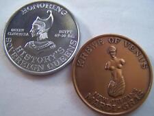 1962 Venus CLEOPATRA Plain Aluminum+Antique Bronze #0060 Mardi Gras Doubloons