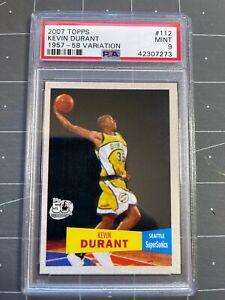 2007 Topps Kevin Durant #112 1957-58 Variation Rookie RC PSA 9 GEM