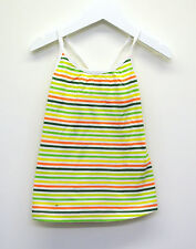 Girls Ex Zara Halter Vest Camisole Top Green Lime Orange - White Age 3 to 14 YR