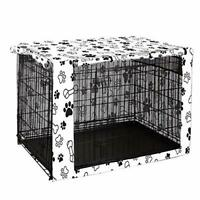 Chengsan Double Door Dog Crate Cover Durable Windproof Pet Kennel Small For 36in