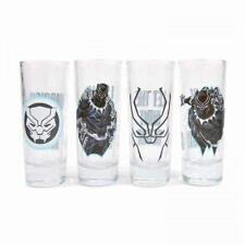 MARVEL COMICS THE BLACK PANTHER SET OF 4 PARTY SHOT MINI GLASSES NEW GIFT BOXED