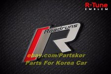 Roadruns R-Tune Emblem Radiator Grill Aluminium Emblem Fit for KIA HYUNDAI All