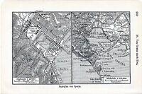 La Spezia 1912 picc. piantina città orig. Portovenere Lerici Palmaria Marola