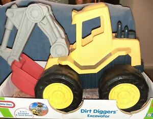 NEW Little Tikes Dirt Diggers Excavator in Rare Red/Yellow Color