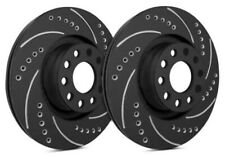 SP Front Rotors for 2017 A4 338mm Front | Drilled Slotted Black F01-3160-BP